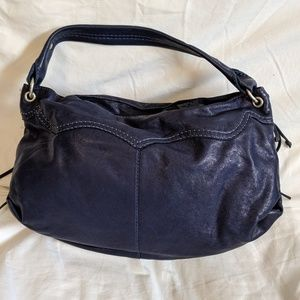 Lucky Brand navy leather purse